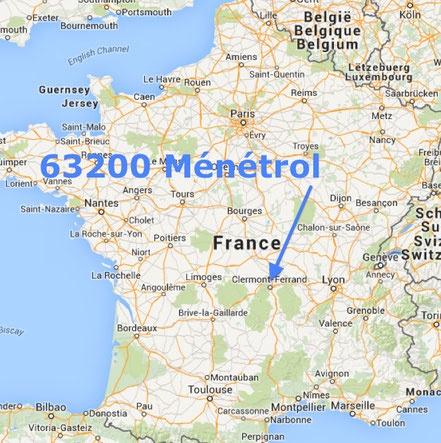 Téléphone   CABINET VETERINAIRE MÉNÉTROL 63200